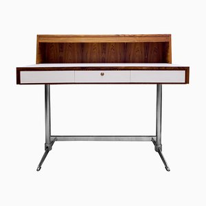 Rosewood and Chromium Desk, 1970s