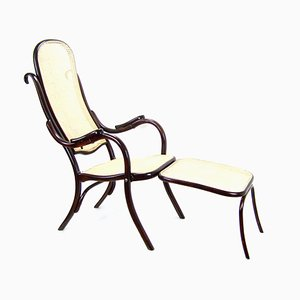 Antique No.1 Folding Chair with Footstool from Thonet