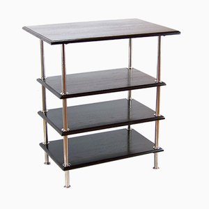Antique Functionalist Chromed Shelf, 1910s