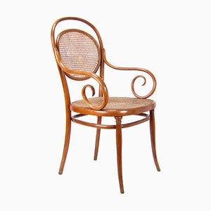 Nr. 11 Armlehnstuhl mit Wiener Sitzgeflecht von Thonet, 1860er