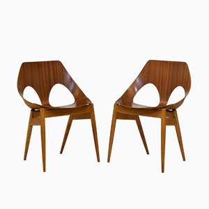 Mid-Century Model Jason Side Chairs by Carl Jacobs for Kandya, 1950s, Set of 2