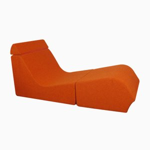 Orange Chaise Lounge by Marc Vaïdis, 1970s