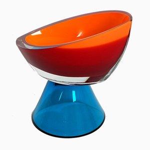 Schale aus Kristallglas, 1960er