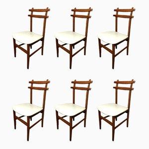 Skandinavische Esszimmerstühle, 1960er, 6er Set