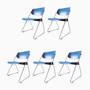 Stapelbare Esszimmerstühle von Georg Leowald für Wilkhahn, 1960er, 5er Set