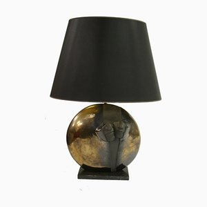 Belgian Stone Table Lamp, 1970s