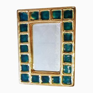 Ceramic Mirror by François Lembo, 1960s