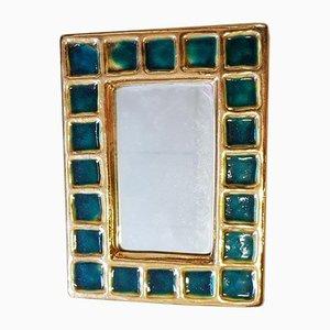 Spiegel mit Rahmen aus Keramik von François Lembo, 1960er