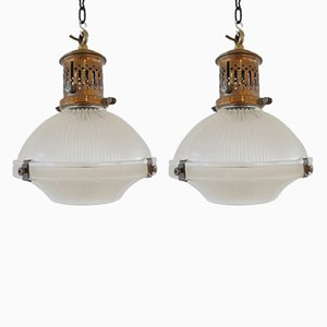 Pendant Lamps from Holophane, 1920s, Set of 2