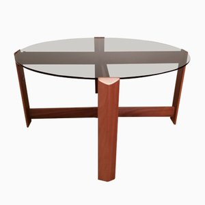 Vintage Teak and Smoked Glass Coffee Table from Myer