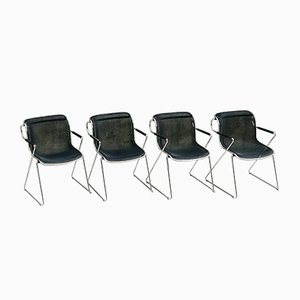 Desk Chairs by Charles Pollock for Castelli / Anonima Castelli, 1980s, Set of 4