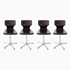 Swivel Chairs by Adam Stegner for Flötotto, 1970s, Set of 4