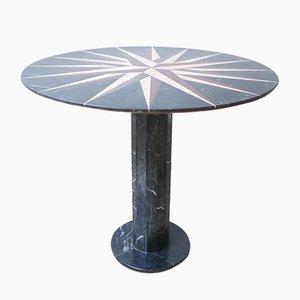 French Marble Circular Table, 1950s