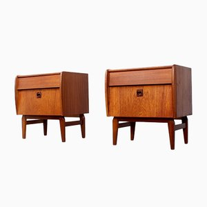 Danish Teak Nightstands by Hans J. Wegner, 1950s, Set of 2