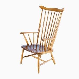 Walnut Birdcage Chair, 1960s