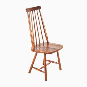 Windsor-Style Walnut Dining Chair, 1960s