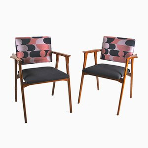 Wooden Lounge Chairs, 1950s, Set of 2