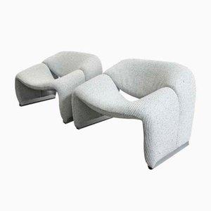 Vintage Stühle von Pierre Paulin für Artifort, 1980er, 2er Set