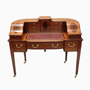 Antique English Edwardian Mahogany Desk from Shoolbred & Co
