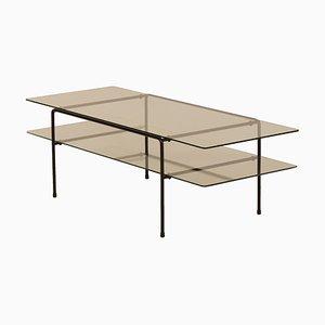 Table Basse Rectangulaire Modèle 3637 Vintage en Verre par A.R. Cordemeyer pour Gispen