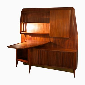 Italian Mahogany Wall Unit by Vittorio Dassi for Dassi, 1950s