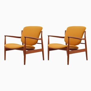 Mid-Century 136 Lounge Chairs by Finn Juhl for France & Søn / France & Daverkosen, Set of 2