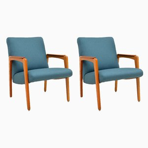 Swedish Teak Armchairs, 1950s, Set of 2