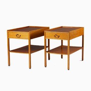 Tables de Chevet 914 par Josef Frank pour Svenskt Tenn, 1950s, Set de 2