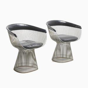 Chaises de Salle à Manger Mid-Century par Warren Platner pour Knoll Inc. / Knoll International, Set de 2