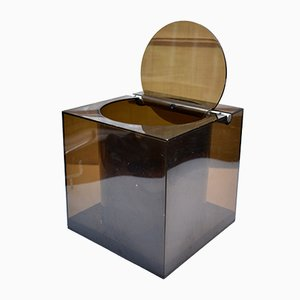 Mid-Century Italian Plexiglass Ice Bucket by CINI & NILS for Opi Milano