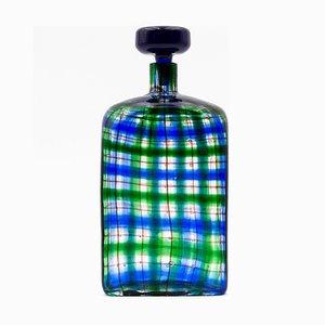 Tartan Flasche aus Muranoglas von Christian Dior für Barrovier et Toso, 1969
