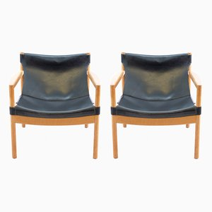 Mid-Century Leather Lounge Chairs from Walter Knoll/Wilhelm Knoll, Set of 2