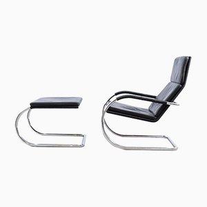 Deutscher Vintage D35 Sessel mit Fußhocker von Tecta, 2er Set