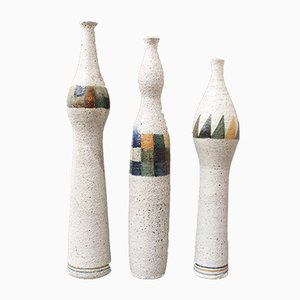 Bottle-Shaped Vases by Bruno Gambone, 1990s, Set of 3
