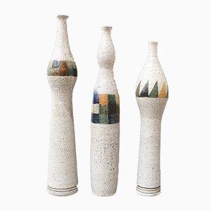 Flaschenförmige Vasen von Bruno Gambone, 1990er, 3er Set