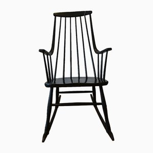 Mid-Century Swedish Wood Rocking Chair by Lena Larsson for Nesto