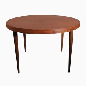Round Danish Rosewood Extendable Dining Table by Kai Kristiansen for Feldballes Møbelfabrik, 1950s