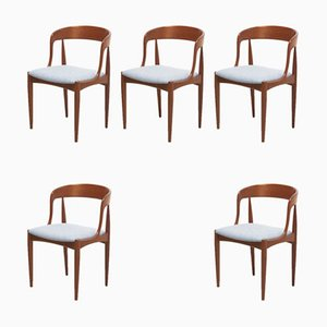 Dining Chairs by Johannes Andersen for Uldum Møbelfabrik, 1950s, Set of 5