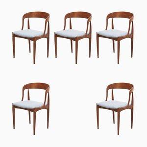 Esszimmerstühle von Johannes Andersen für Uldum Møbelfabrik, 1950er, 5er Set
