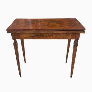 Antiker furnierter Spieltisch