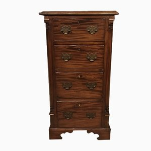 Antique Victorian Mahogany Pedestal Chest