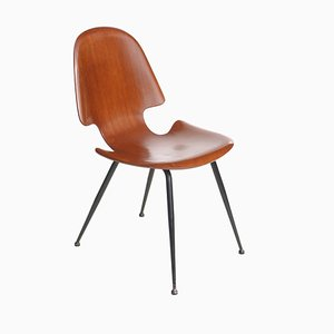 Italian Plywood Dining Chair by Carlo Ratti for Compensati Curvati, 1950s