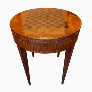 Antique Rosewood & Leather Game Table