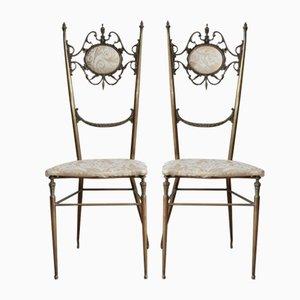 Chaises d'Appoint Chiavarine Hollywood Regency, 1950s, Set de 2