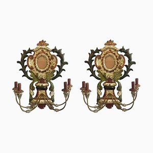 Lacquered Sconces, 1950s, Set of 2