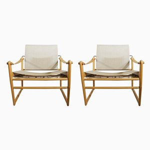 Model Cicada Safari Chairs by Bengt Ruda for Ikea, 1960s, Set of 2