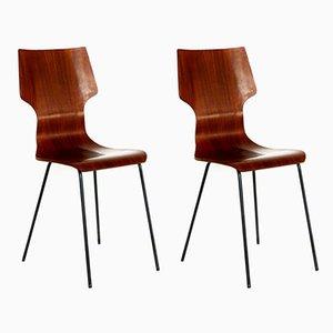 Esszimmerstühle von Aldo Bartolomeo für Stildomus, 1956, 2er Set