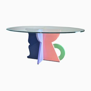 Tavolo da pranzo di Alessandro Mendini per Memphis, anni '80