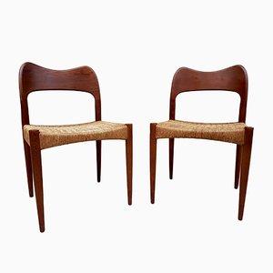 Chaises de Salle à Manger par Arne Hovmand-Olsen pour Mogens Kold, Danemark, 1960s, Set de 2