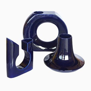 Vases Space Age en Céramique, Italie, 1960s, Set de 3